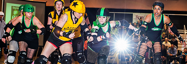 Ohio Roller Girls double header against Steel Hurtin' (Pittsburgh, PA)