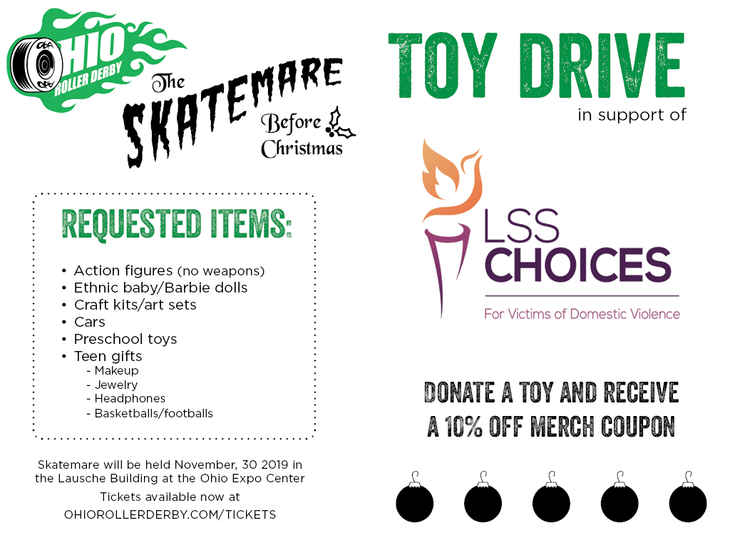 skatemare 2019 toy drive flyer option 2