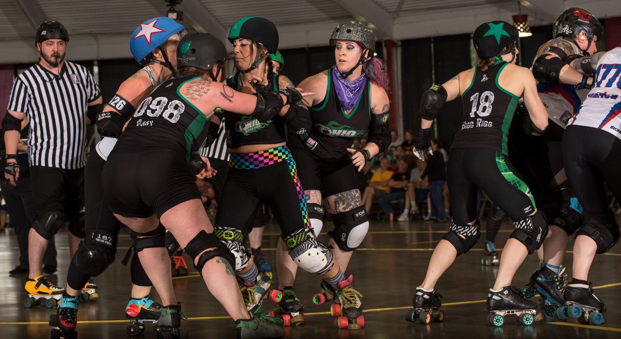 Amy Chainsaw Klover blocking Rigg jamming OHRD v Brandywine 6.8.19 Chris Baker